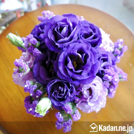 Florist's creation #72278 for Condolence by Kadan.ne.jp, the flower terminal of Japan.
