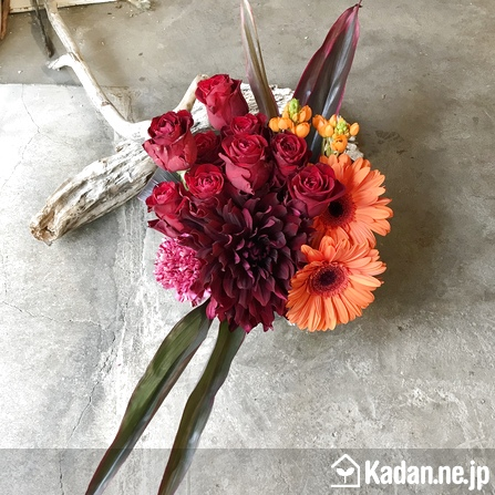 Florist's creation #73056 for BD of Company or Shop by Kadan.ne.jp, the flower terminal of Japan.