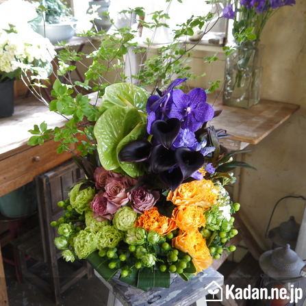 Florist's creation #73241 for BD of Company or Shop by Kadan.ne.jp, the flower terminal of Japan.